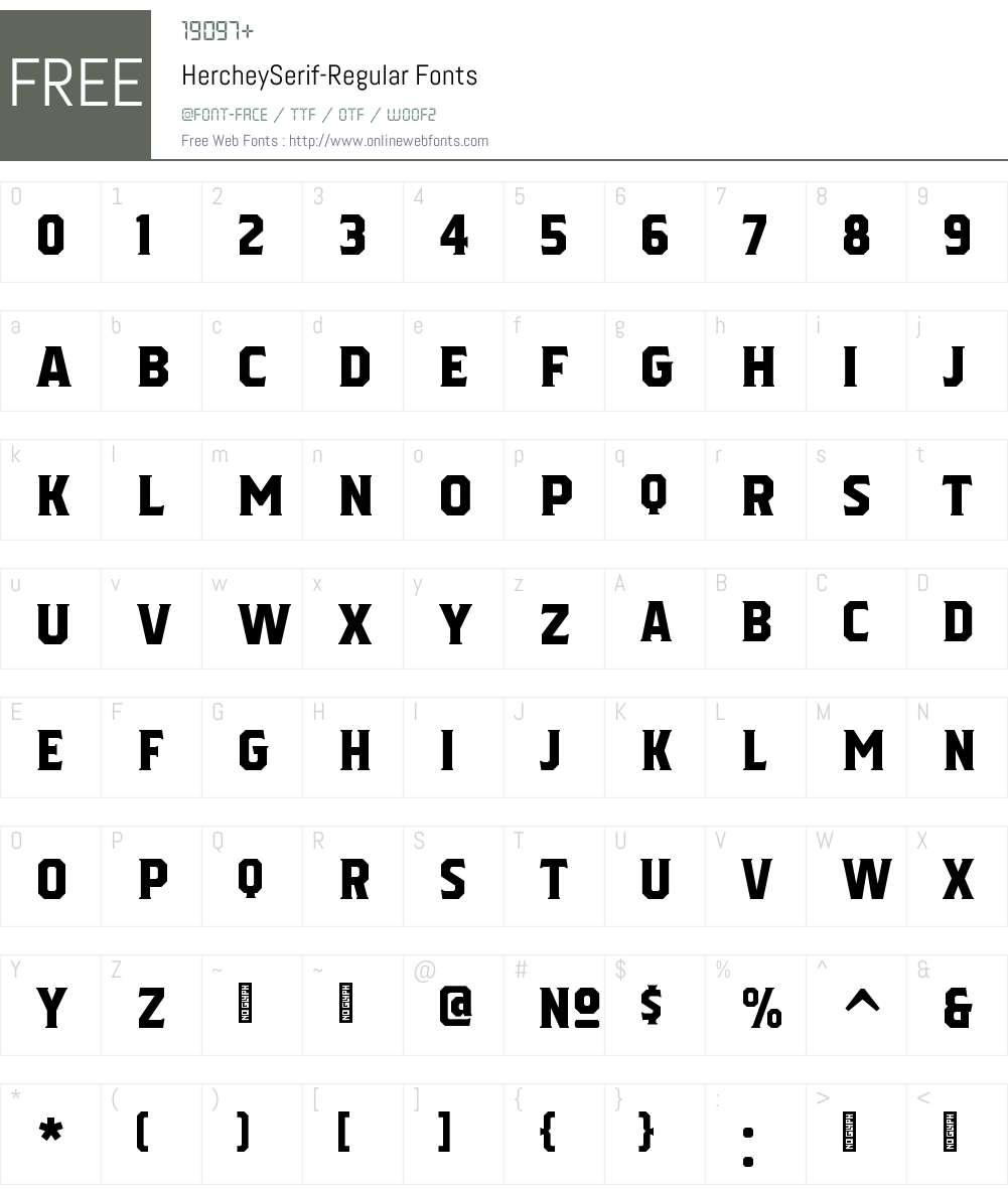 Herchey Serif Font Screenshots