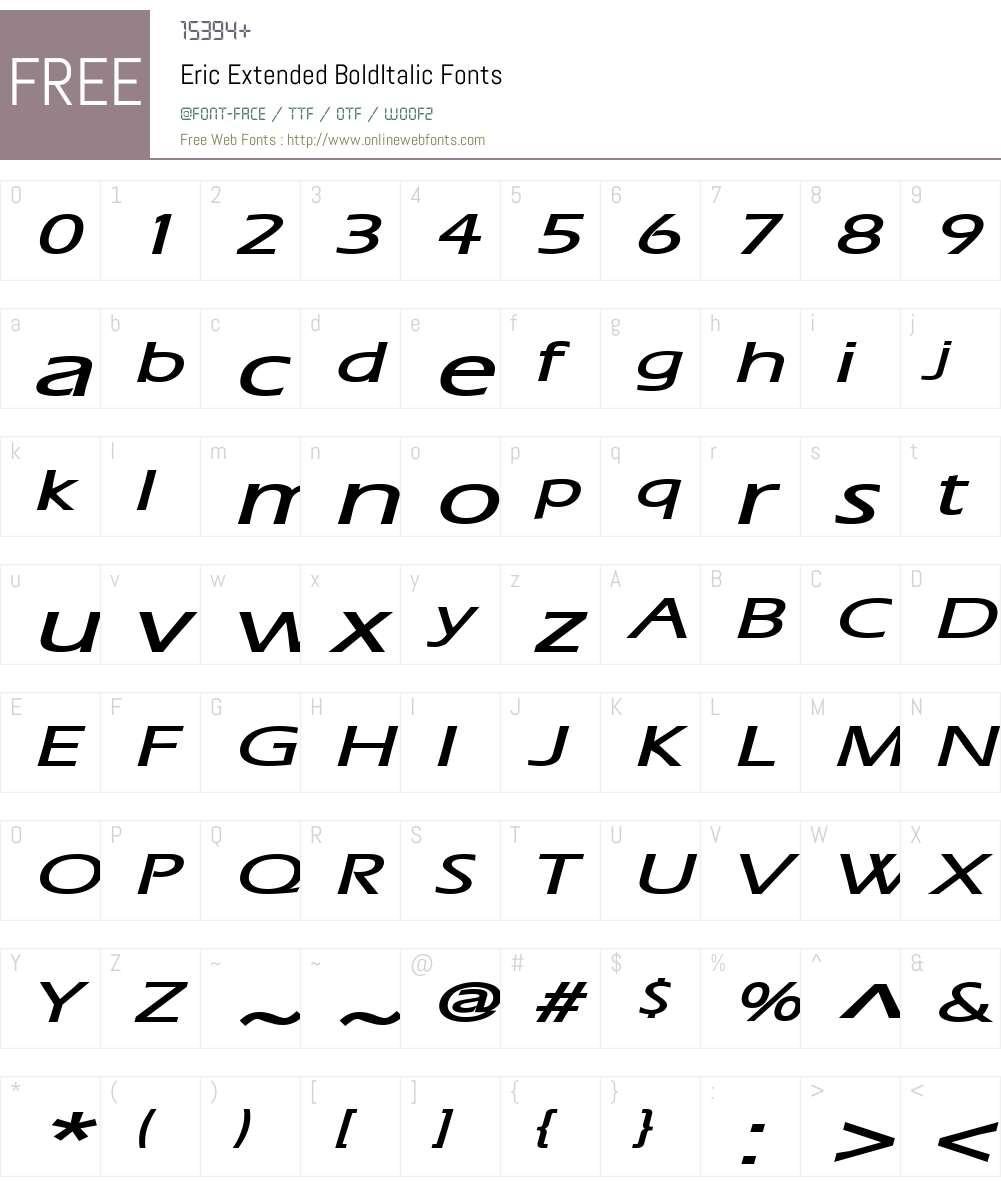 Eric Extended Font Screenshots