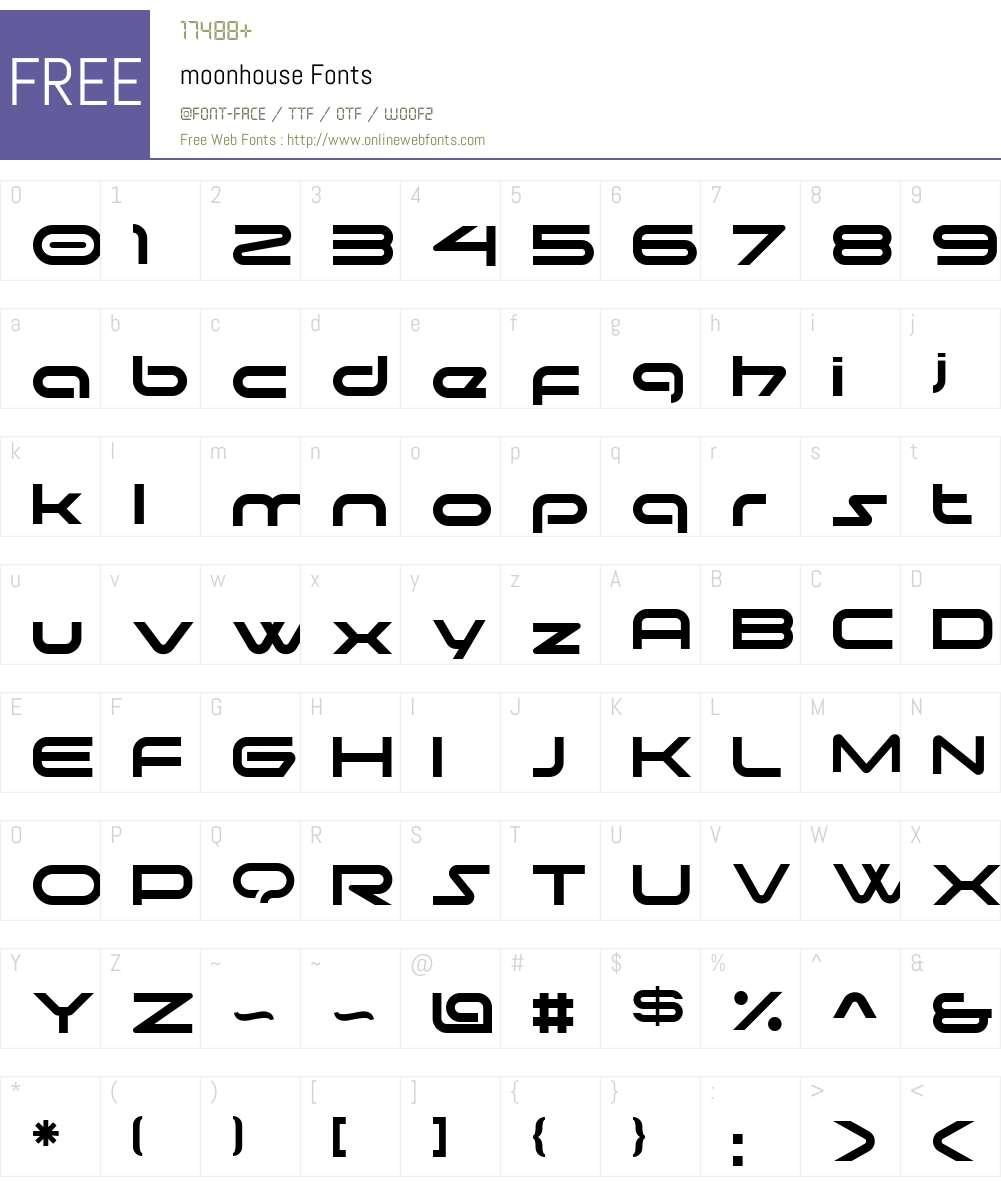 moonhouse Font Screenshots