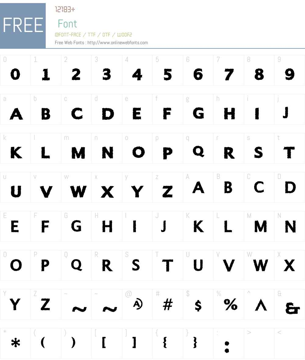 Alphabet4 Font Screenshots