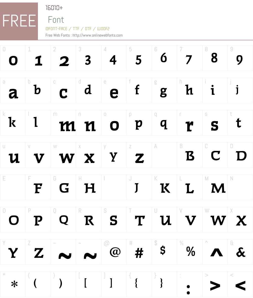 FaustBoldOldStyleFigs Font Screenshots