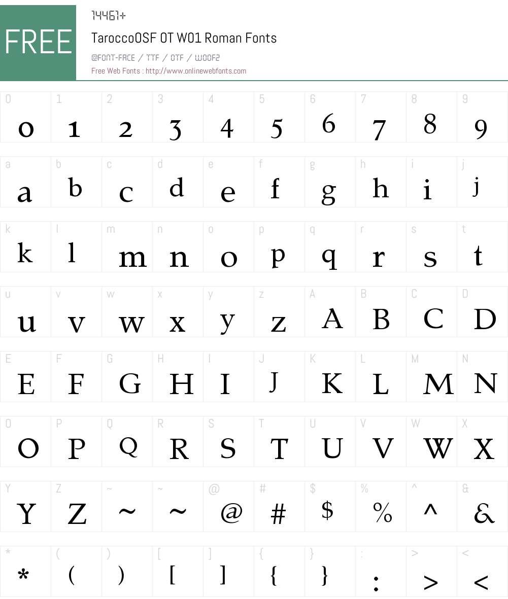 TaroccoOSFOTW01-Roman Font Screenshots