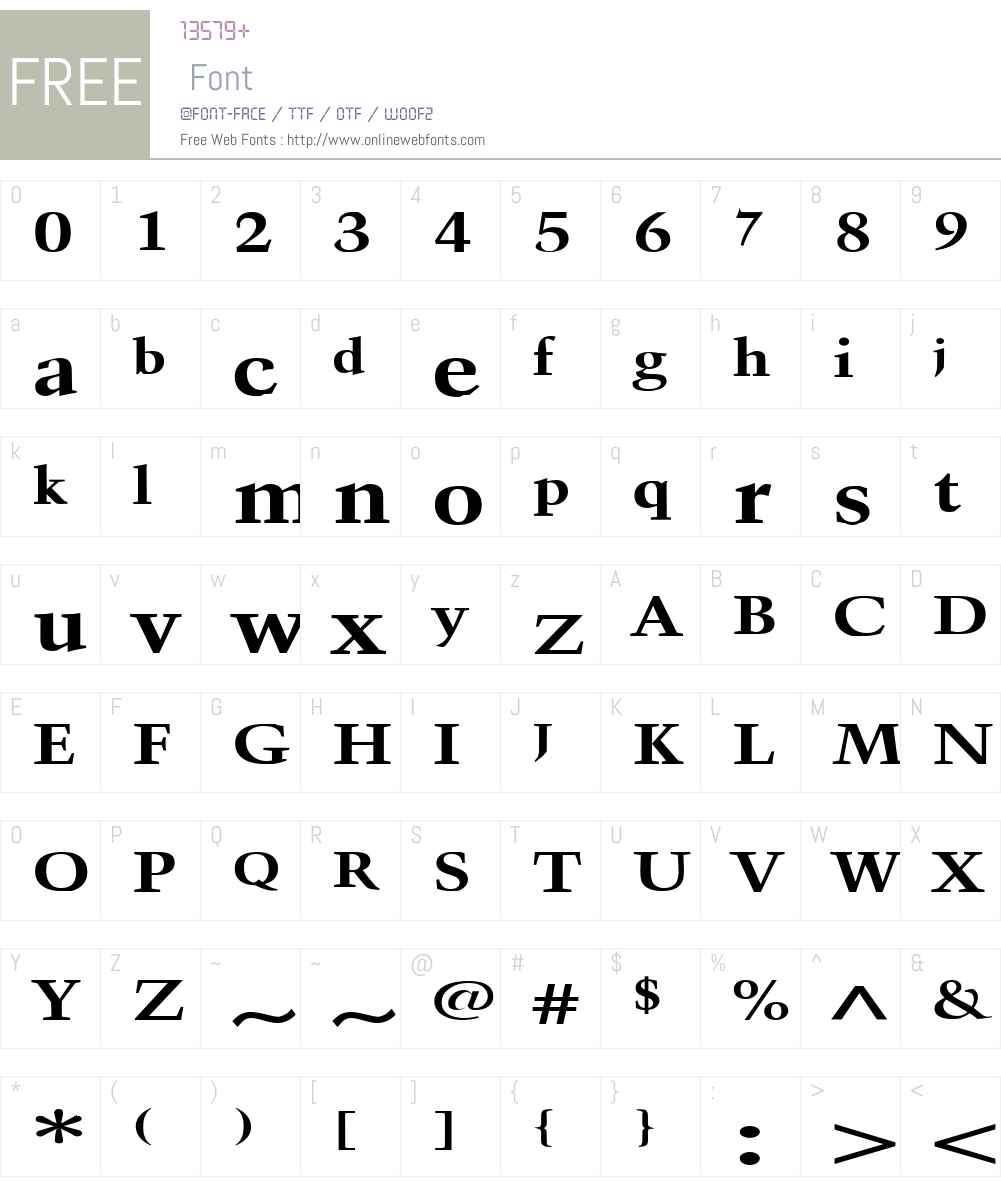 Horn Extended Font Screenshots