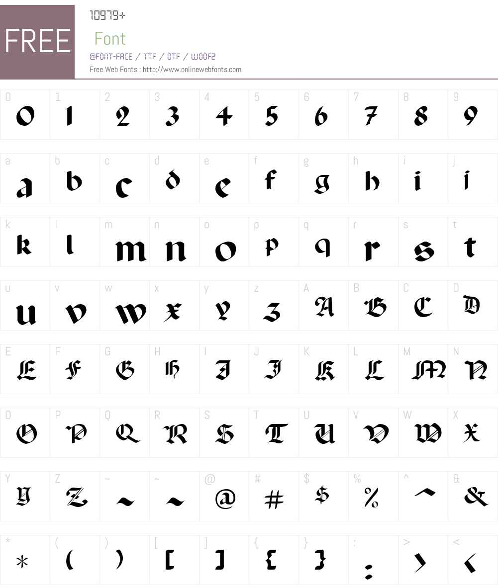 Lancaster Font Screenshots