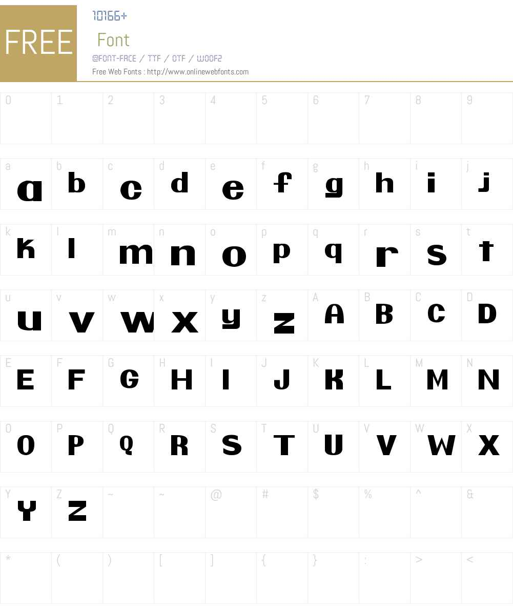 Pretendo Font Screenshots