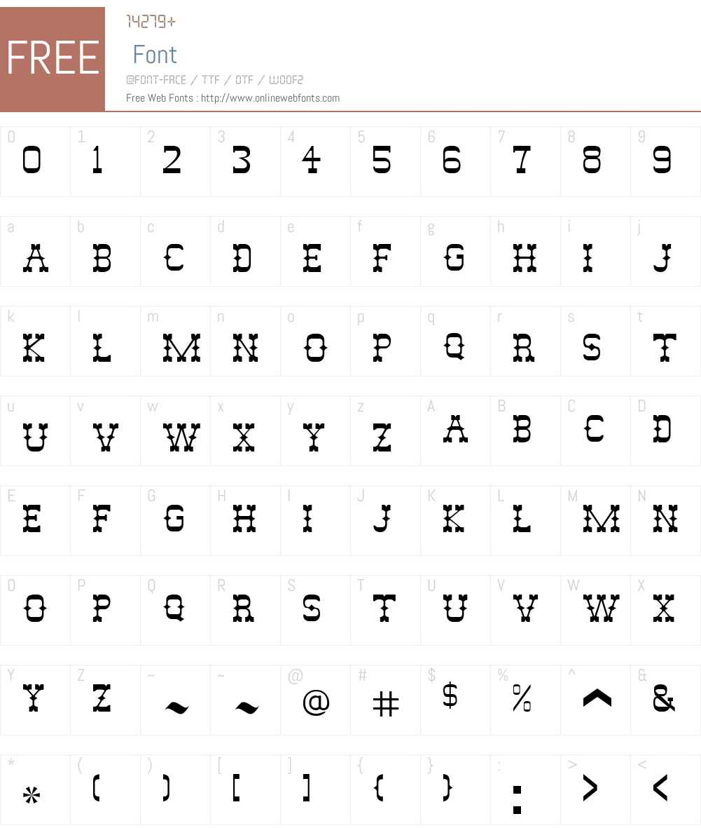 JesseJames Font Screenshots