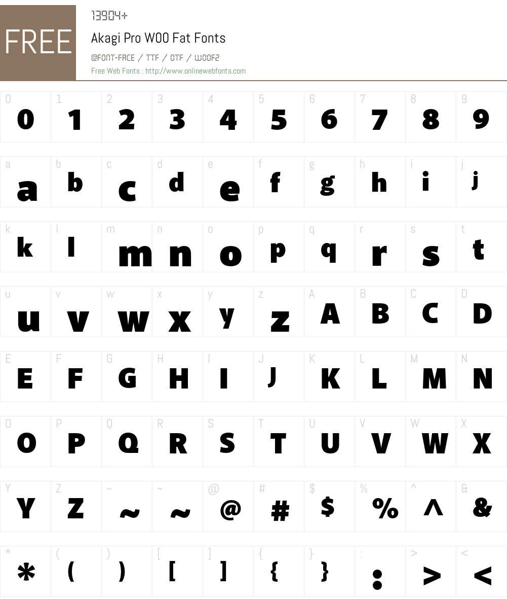 AkagiProW00-Fat Font Screenshots
