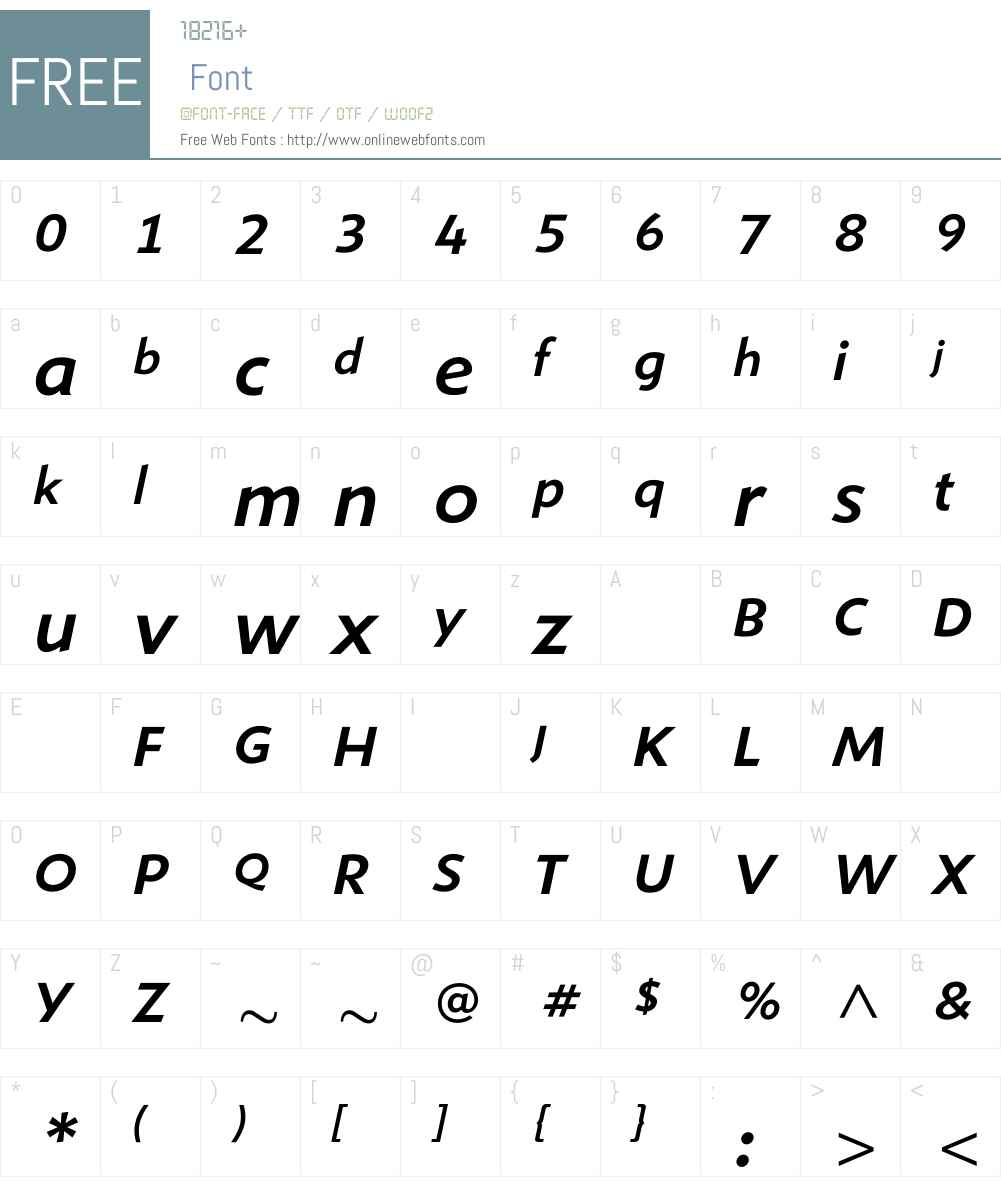 ShinnMediumItalic Font Screenshots