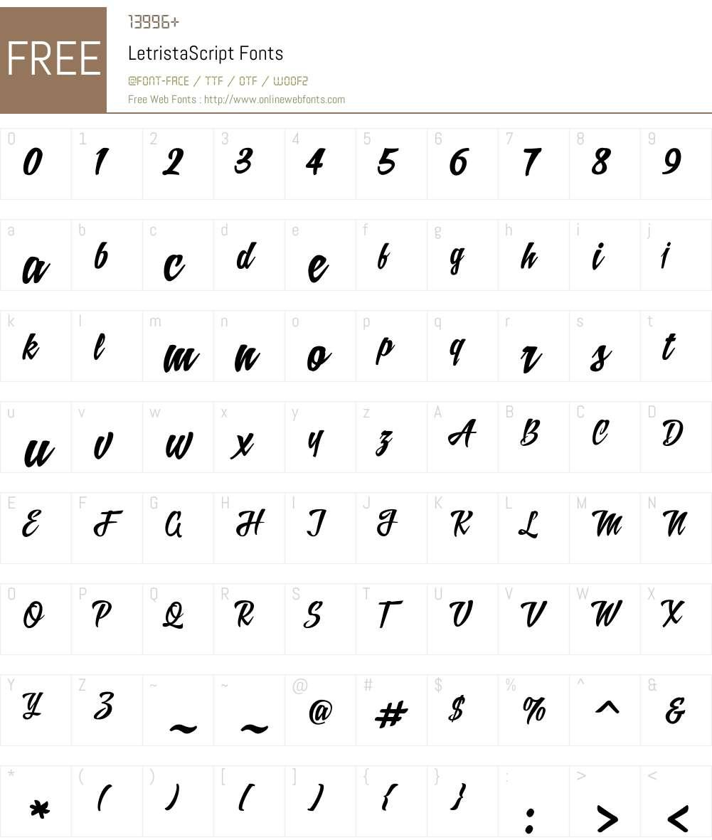 LetristaScript Font Screenshots