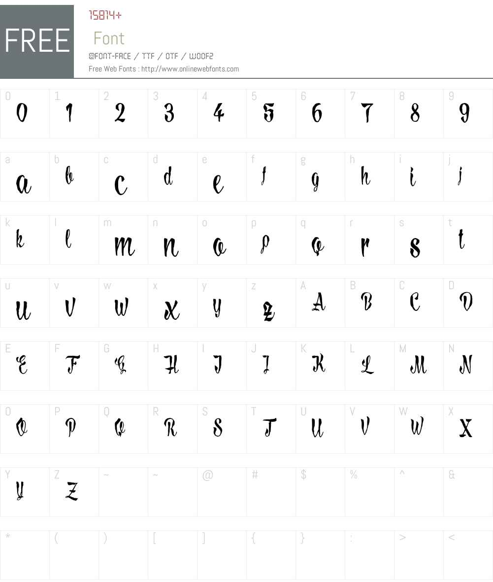 LovelyMadness_Demoversion Font Screenshots