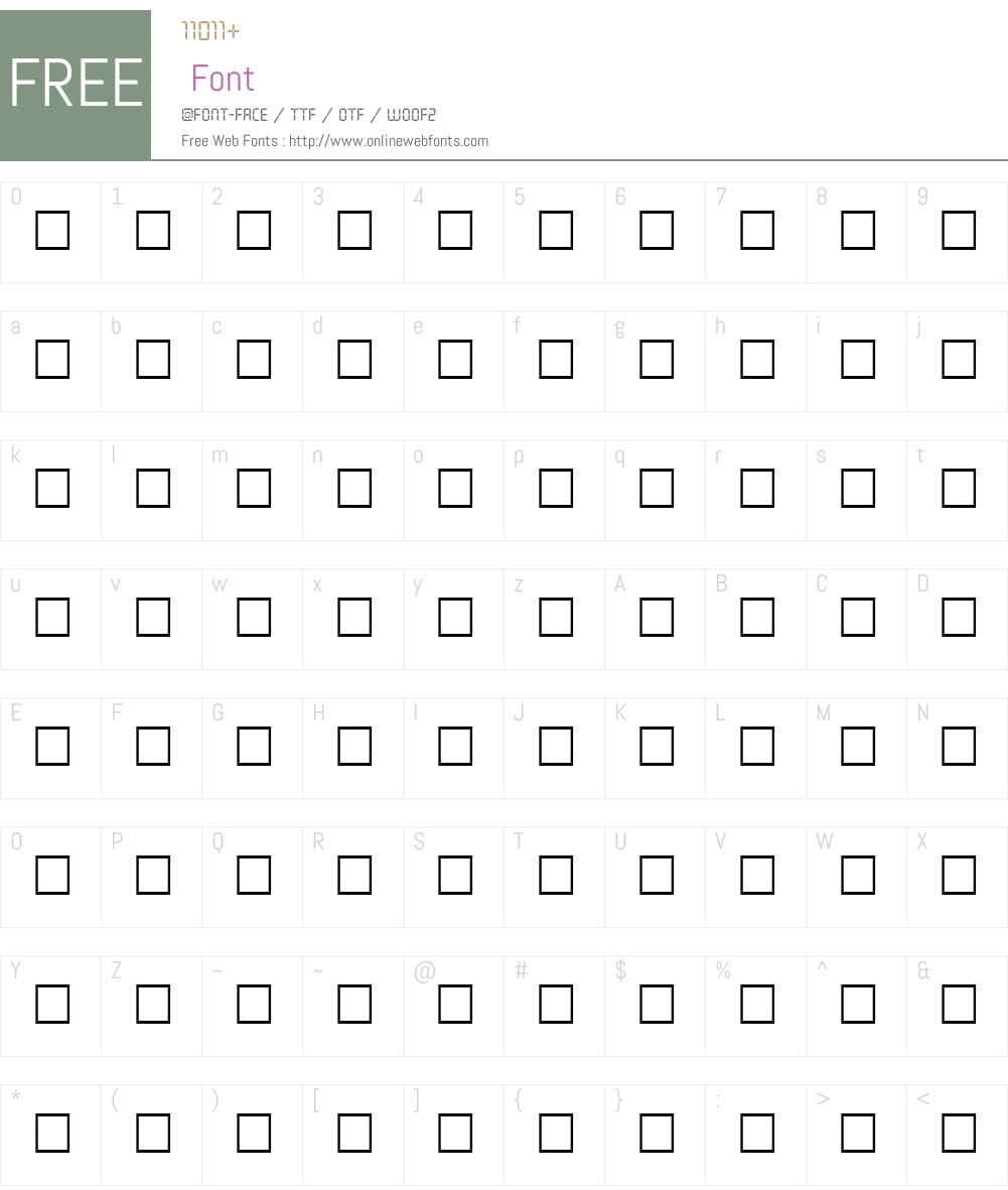 LOGICDISK Font Screenshots