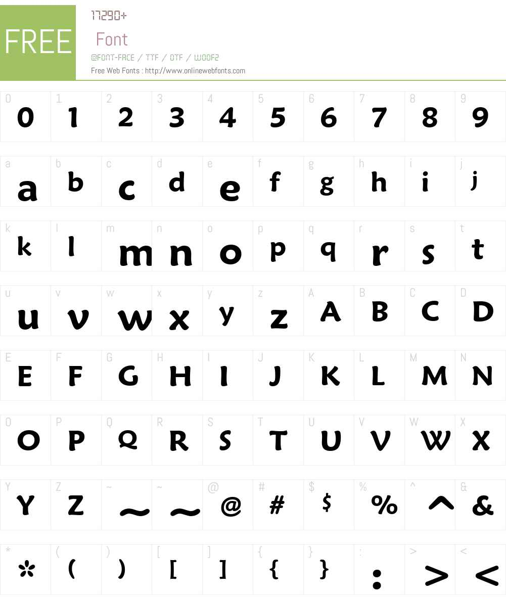Maiandra GD Font Screenshots