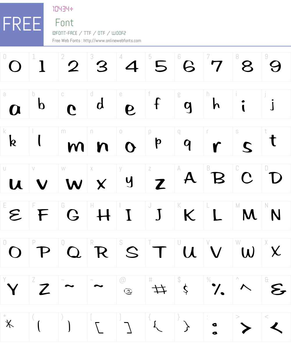 PrevattScriptSSK Font Screenshots