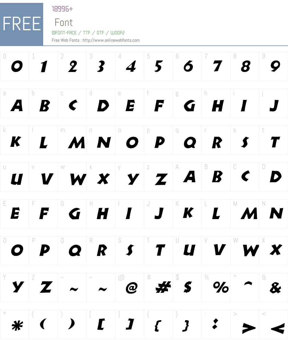 Newell Font Screenshots
