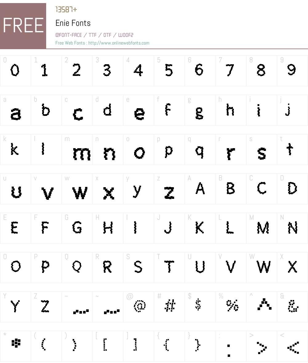 Enie Font Screenshots