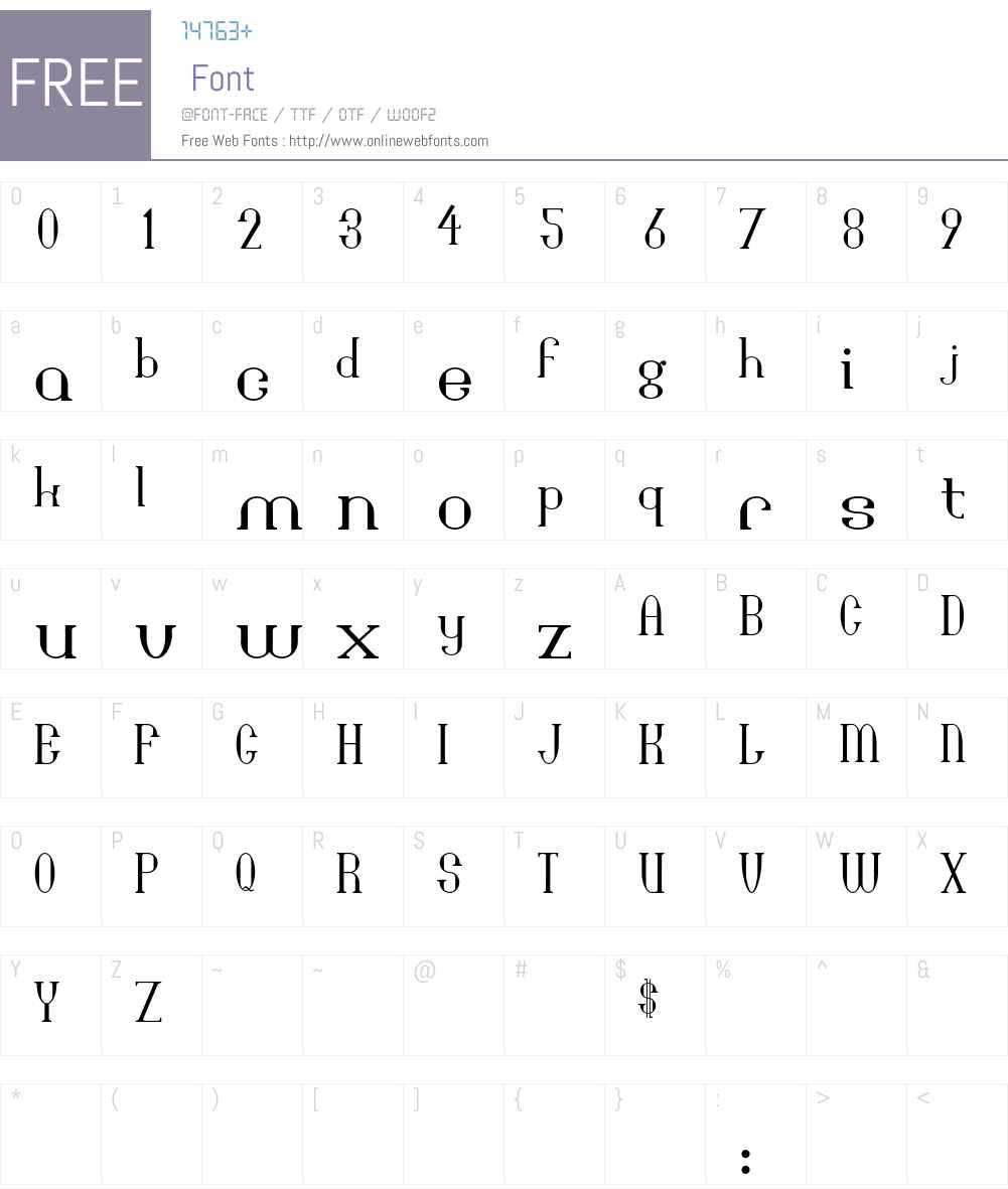 Bridgework Font Screenshots