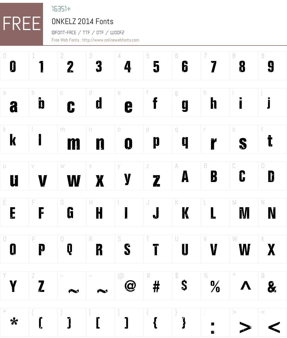 ONKELZ 2014 Font Screenshots