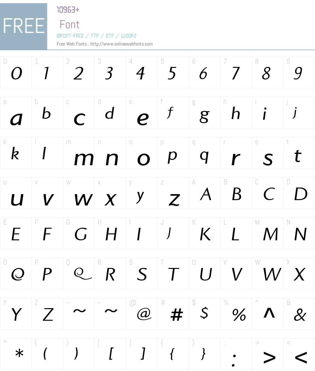 StandupW01-Italic Font Screenshots