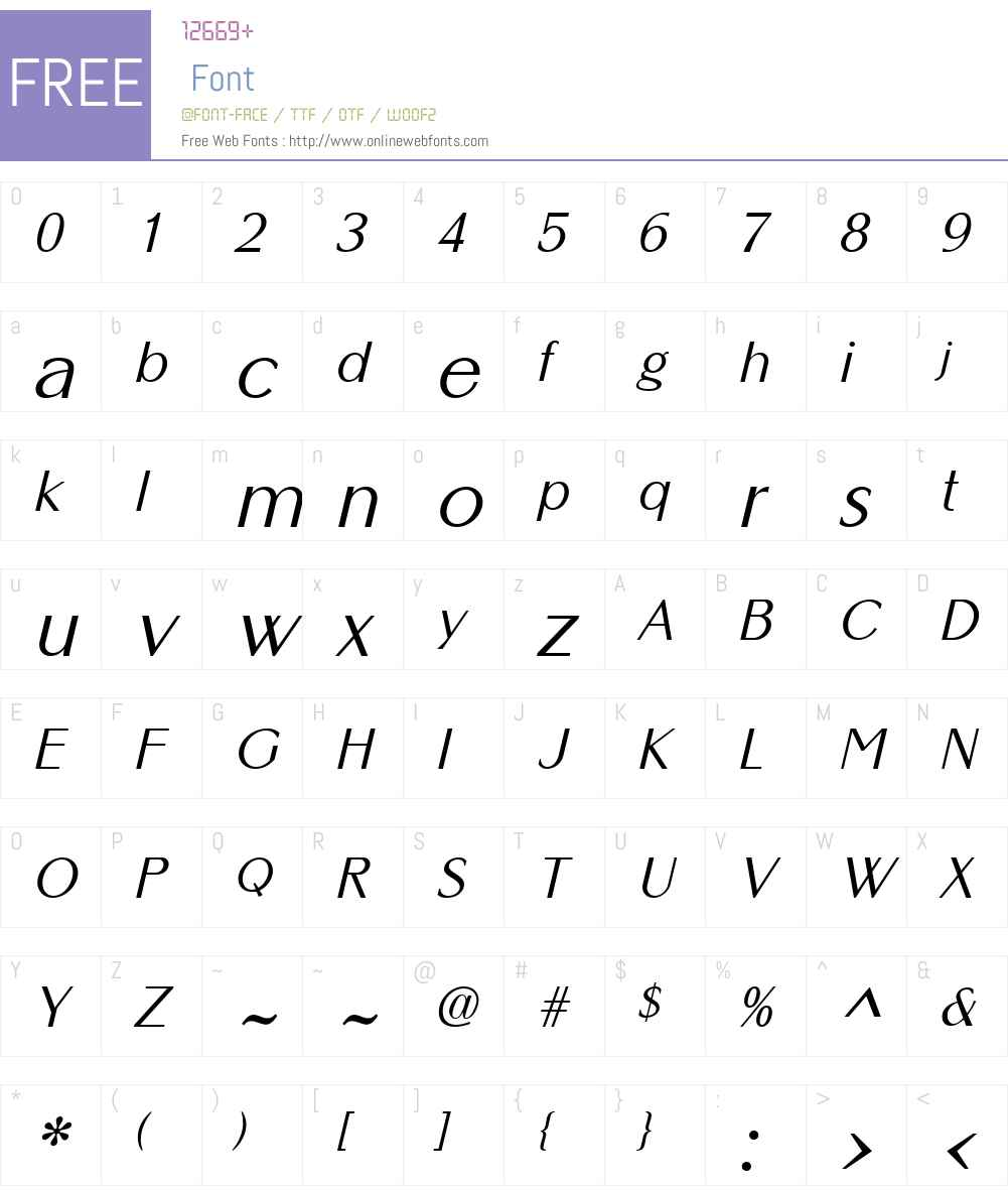 AltrinchamW01-Oblique Font Screenshots