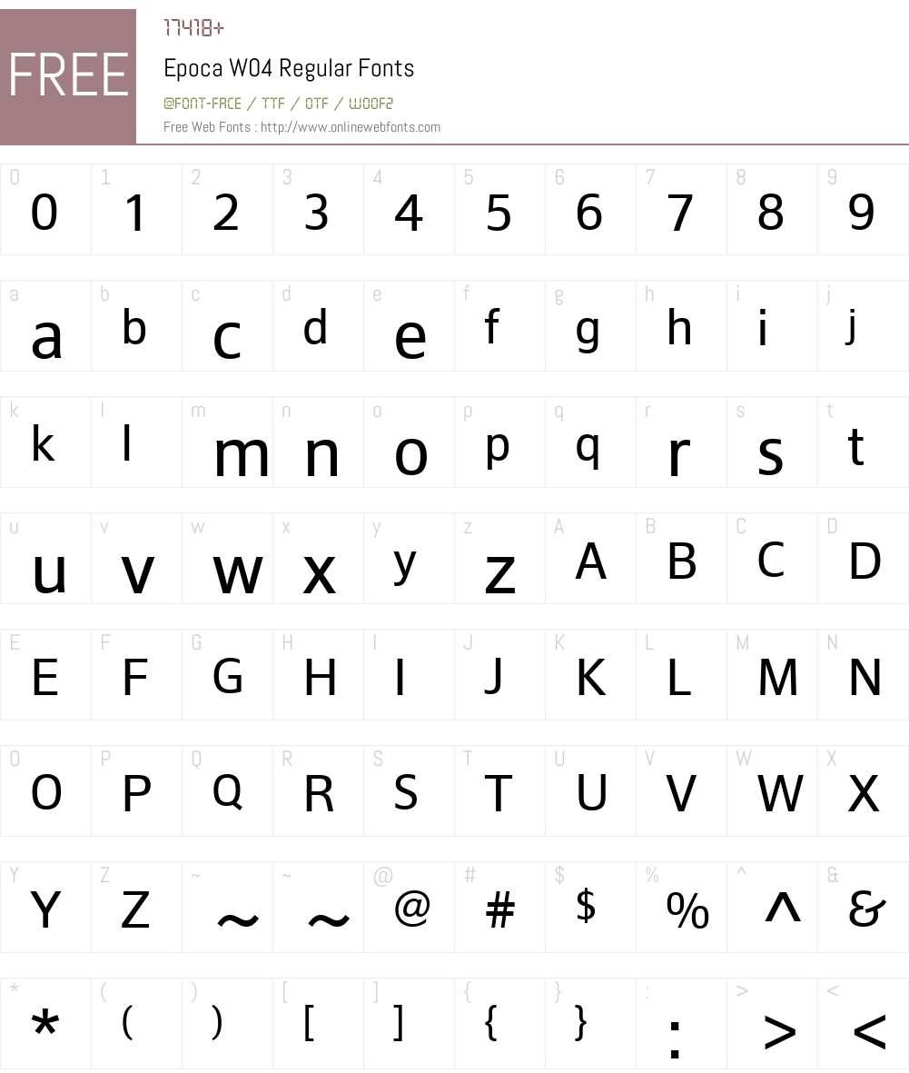 HT Epoca Font Screenshots