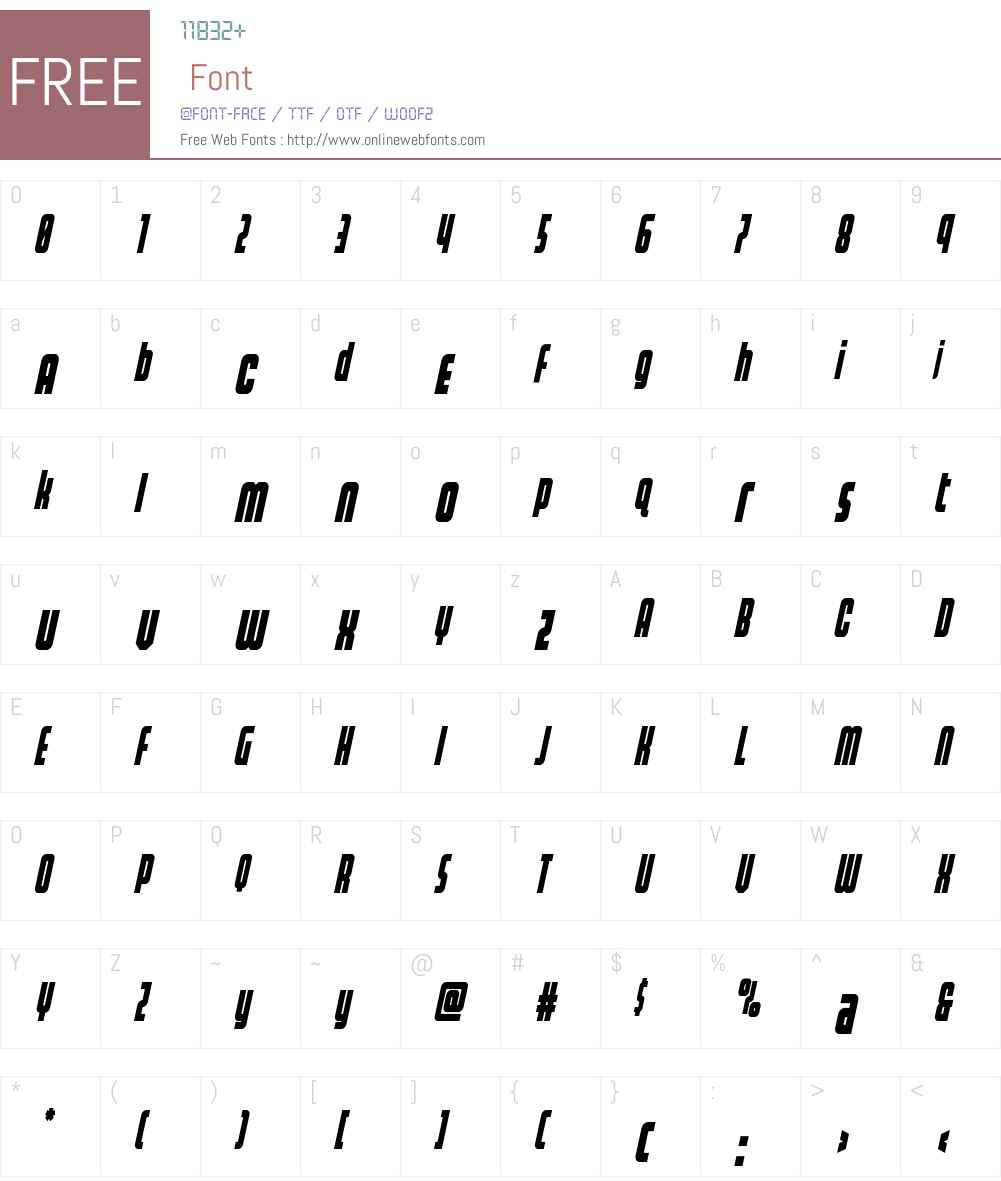Homelander Condensed Italic Font Screenshots