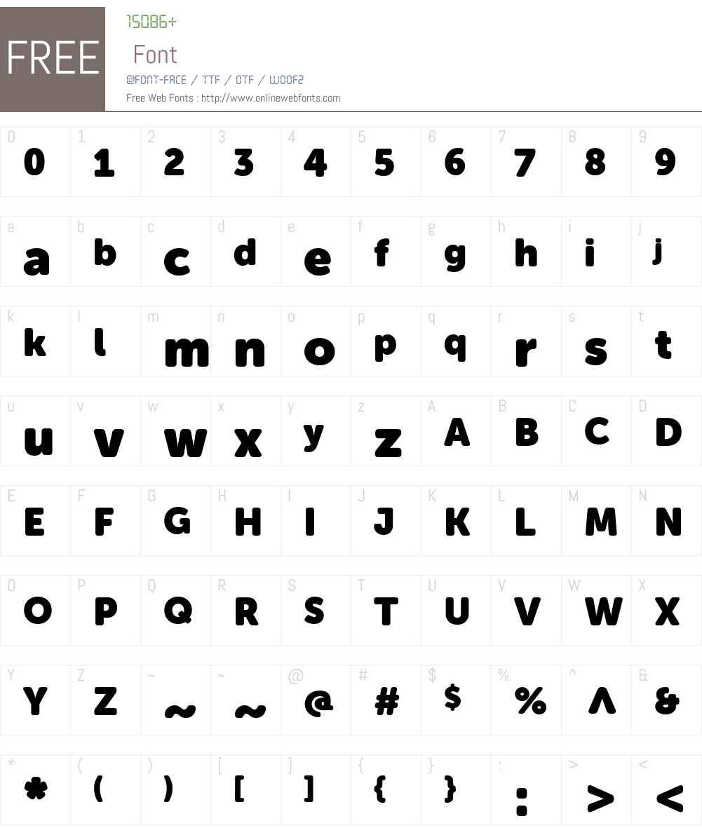 MuseoSansW01-Rounded1000 Font Screenshots