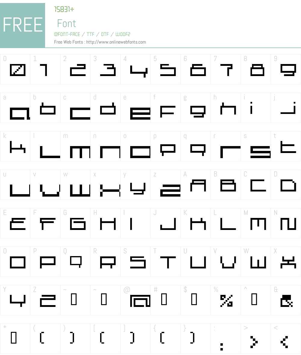 superscreen Font Screenshots