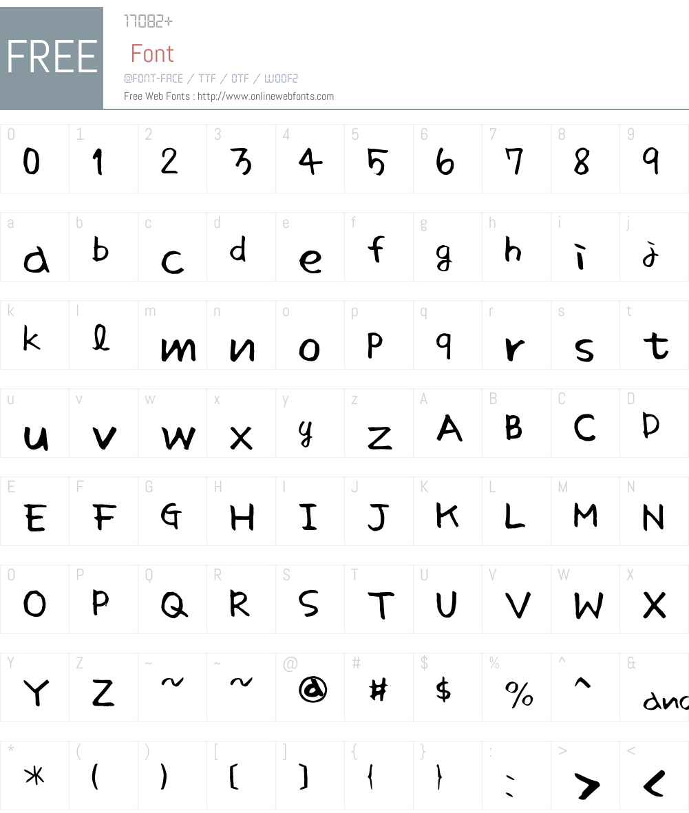 Sunshine smart Font Screenshots
