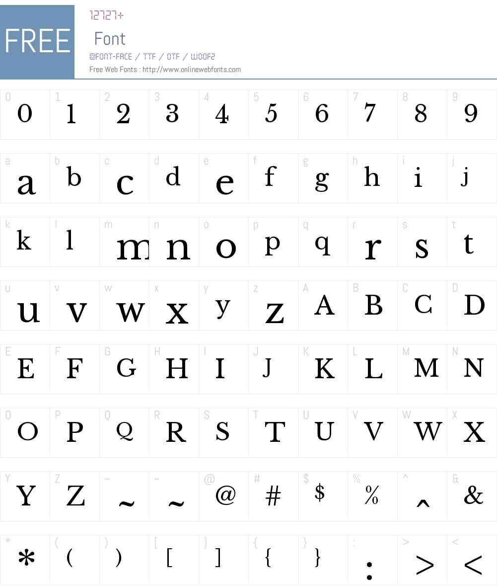 Libre Baskerville Font Screenshots