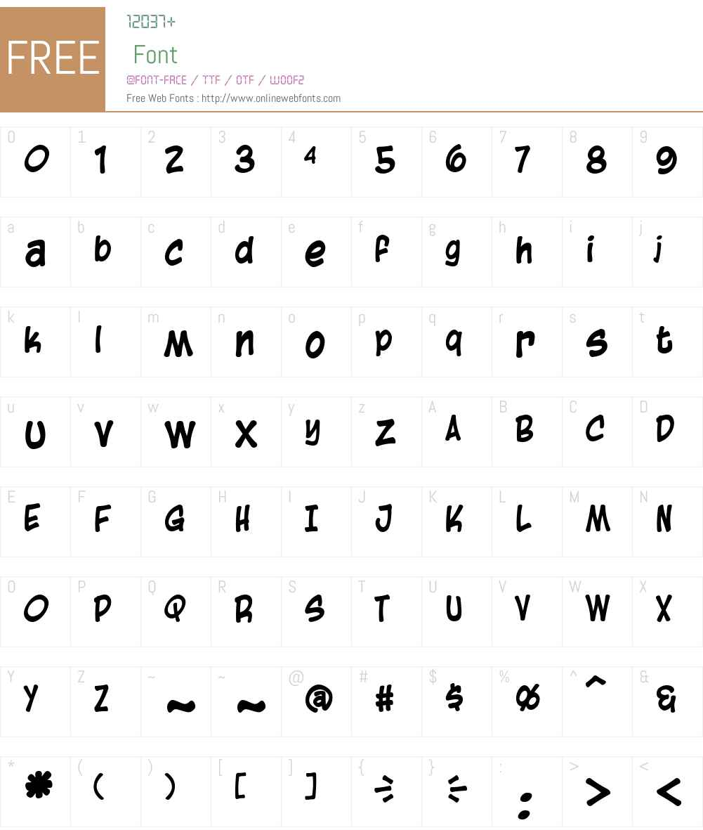 Blambot Casual Font Screenshots