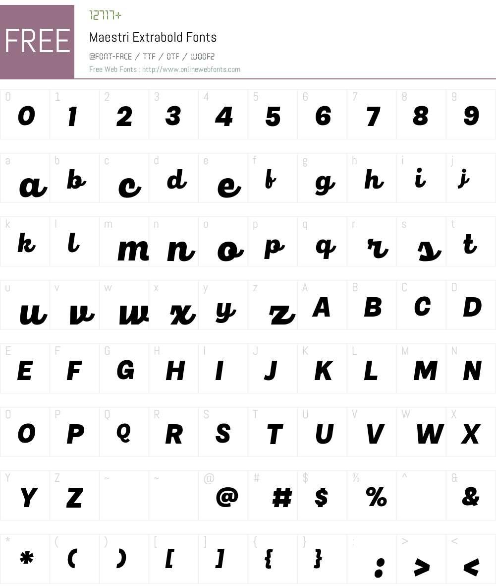 Maestri Font Screenshots