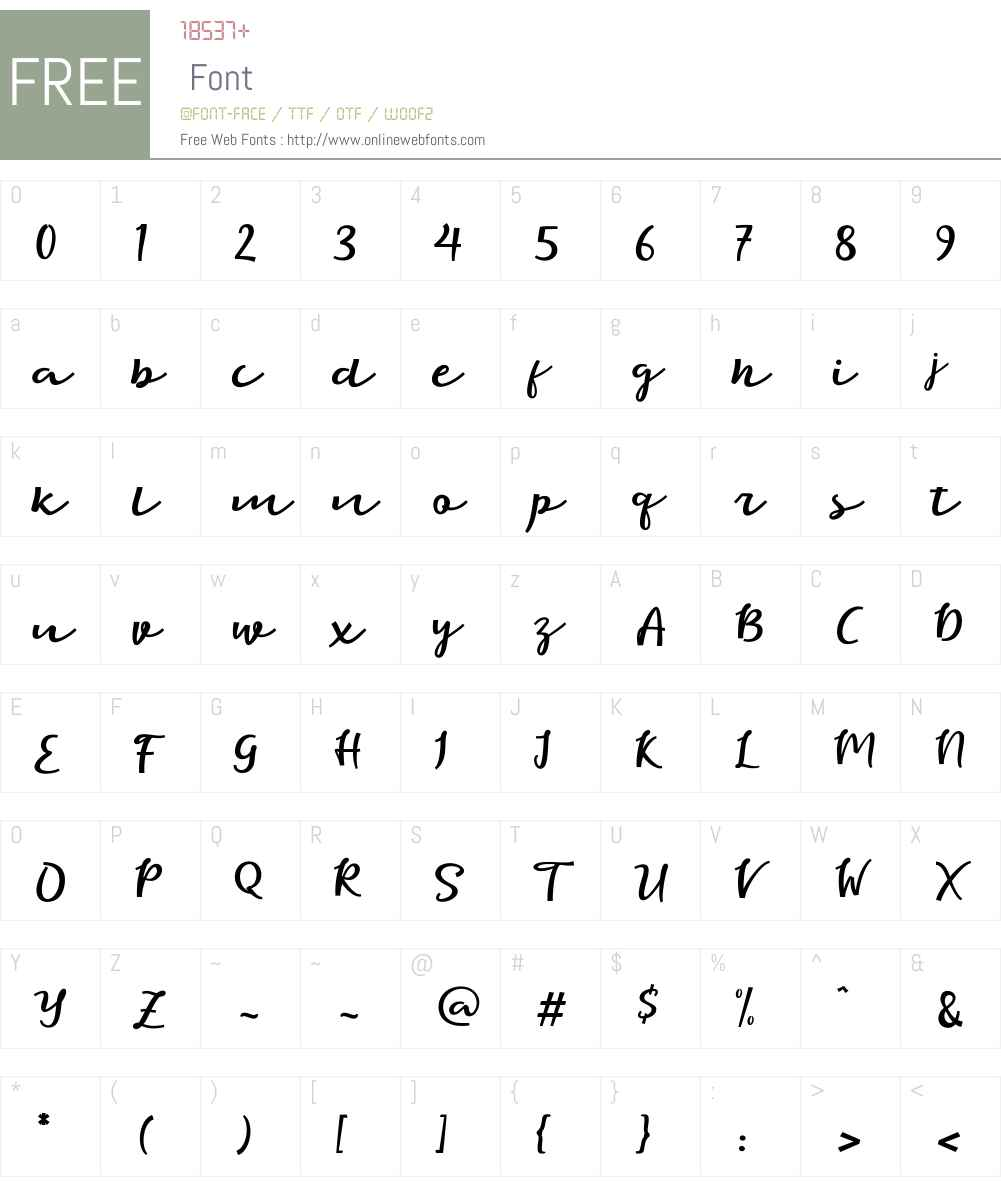 eagle Font Screenshots