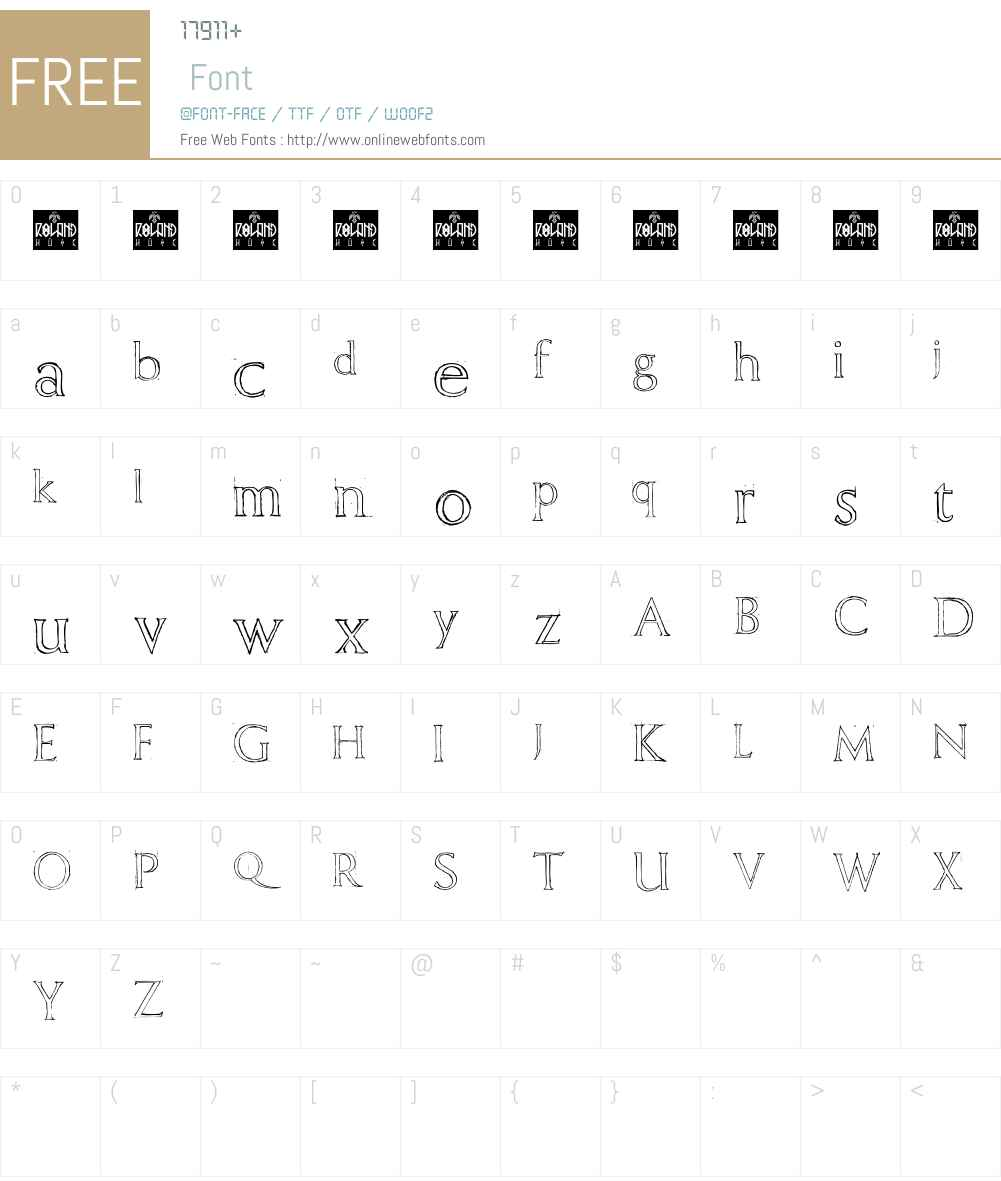 Freehand Roman Font Screenshots