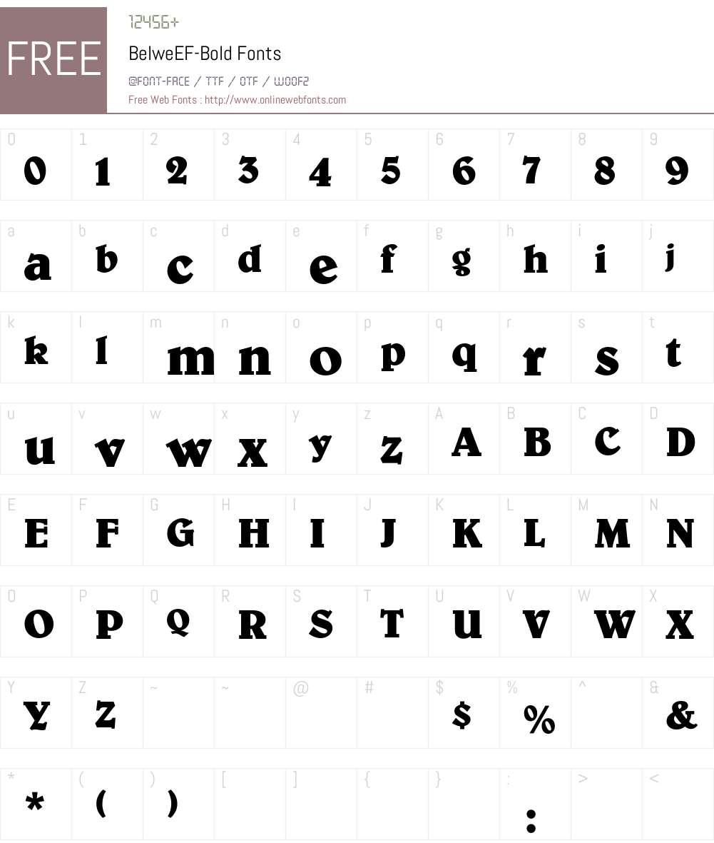 BelweEF-Bold Font Screenshots