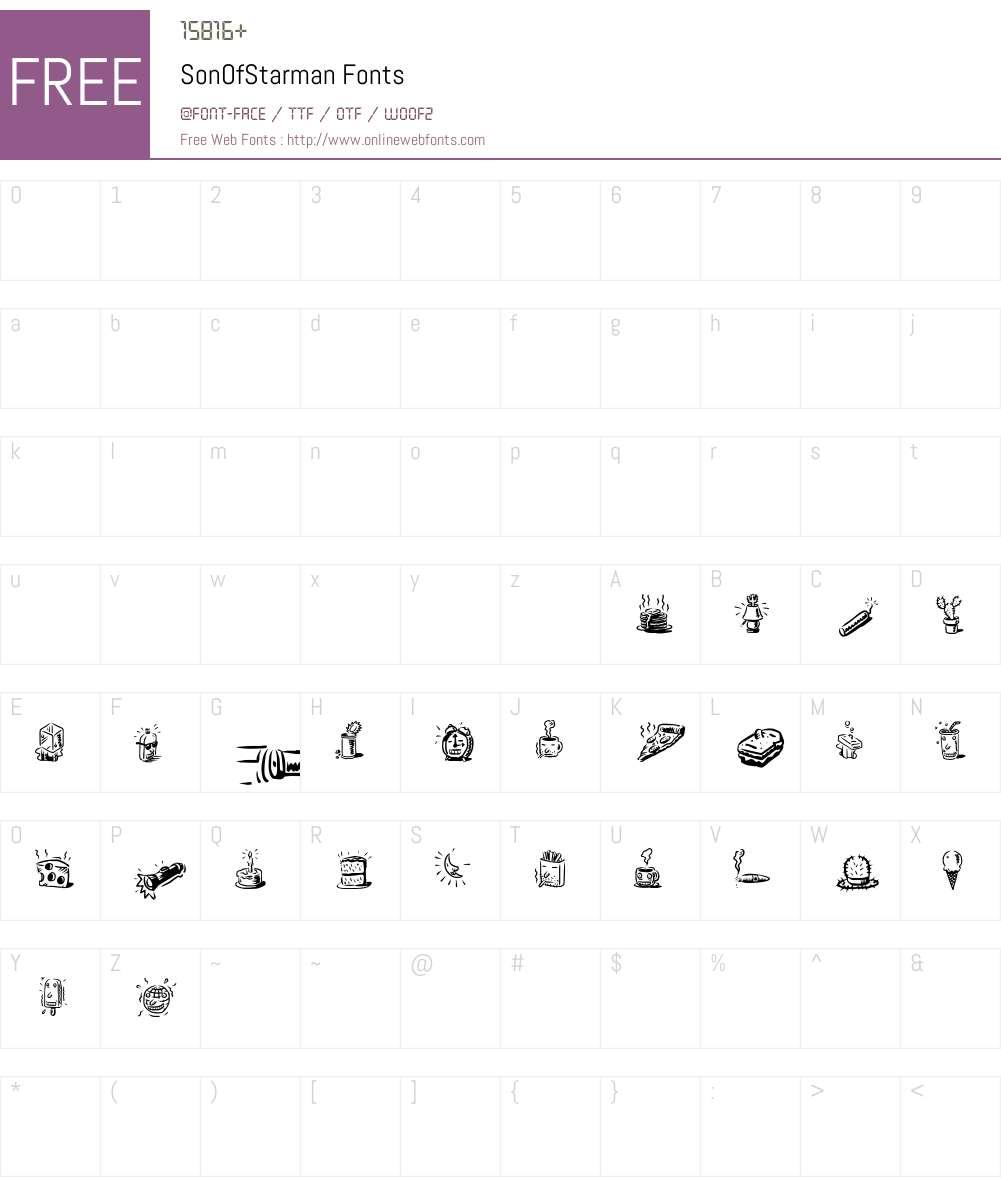 SonOfStarman Font Screenshots