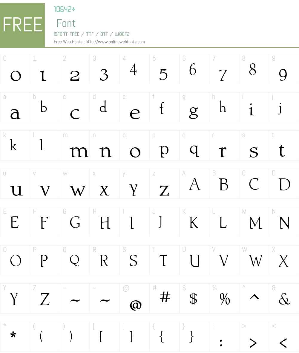 AblatiOldstyleW01-Regular Font Screenshots