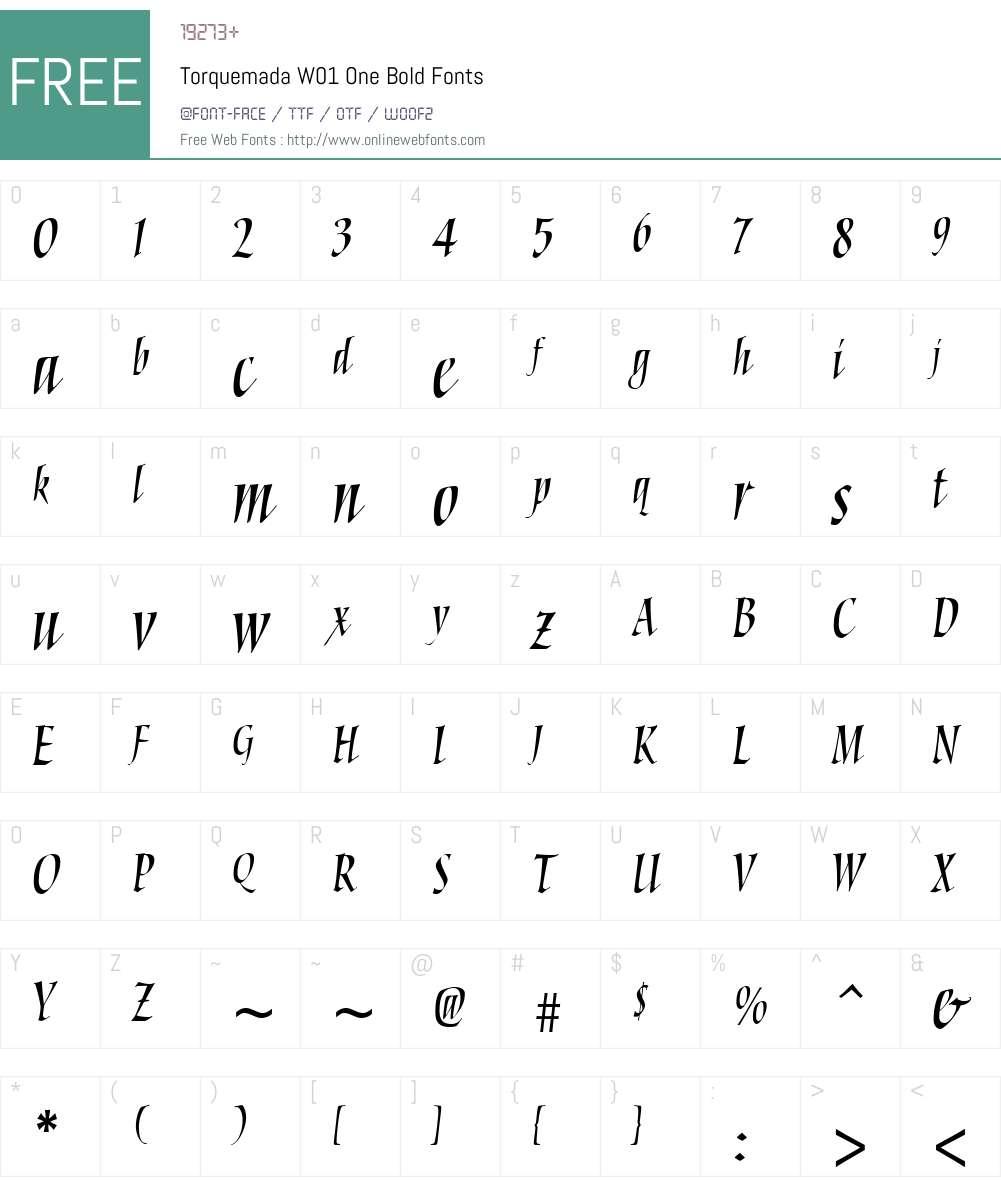 TorquemadaW01-OneBold Font Screenshots