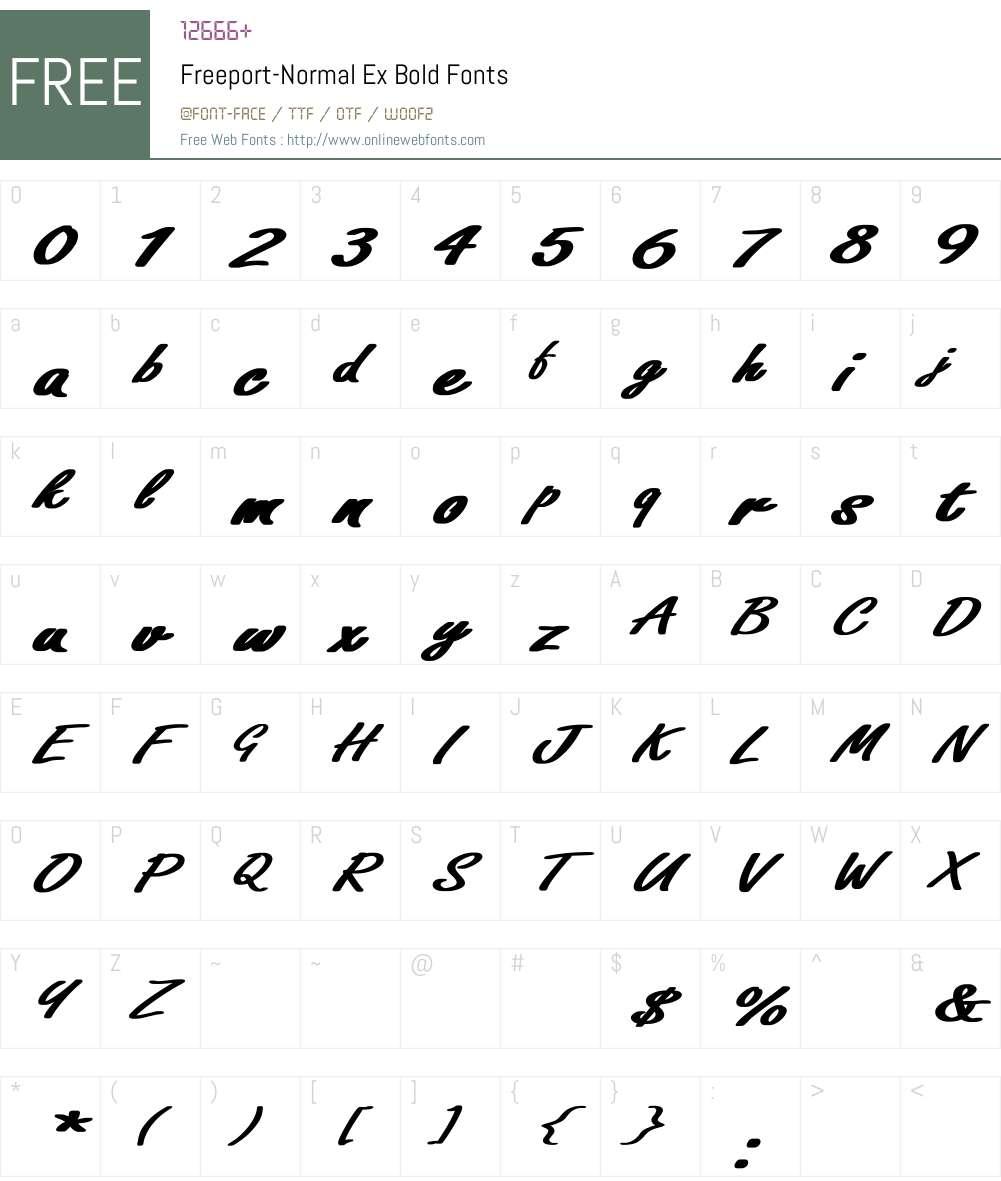 Freeport-Normal Ex Bold Font Screenshots