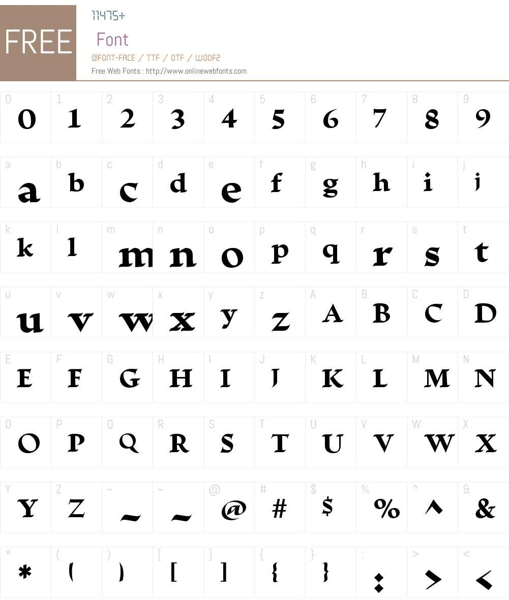 EscrituraDisplayW01-XBold Font Screenshots