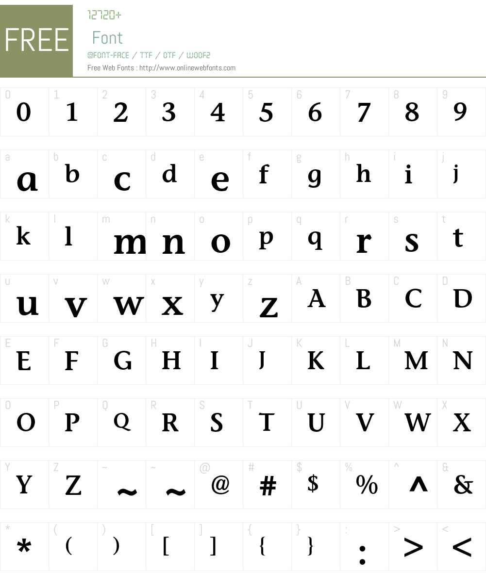 Stone Informal BQ Font Screenshots