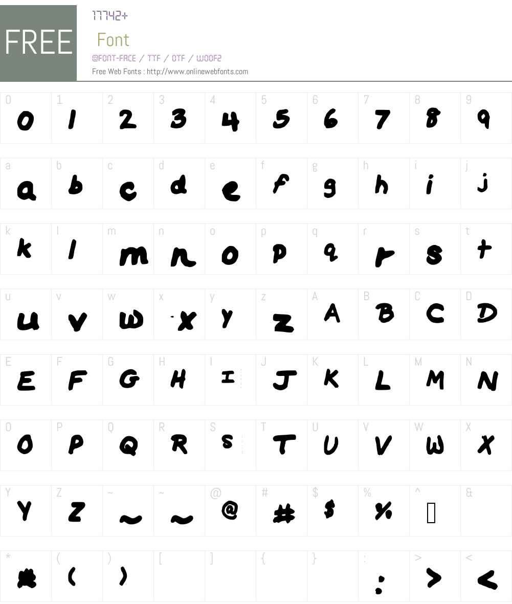 HorseC Font Screenshots