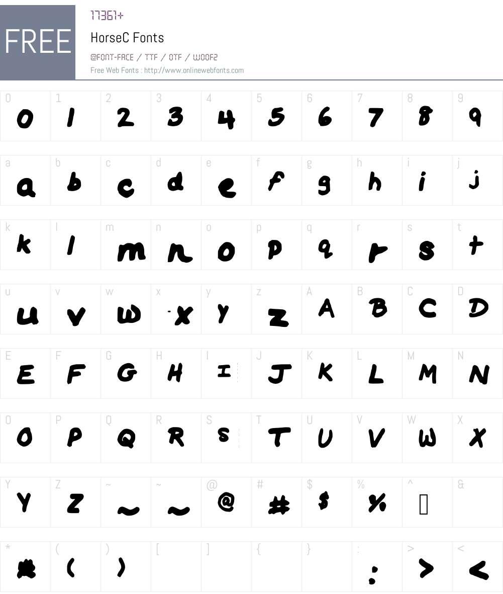HorseC Font Screenshots