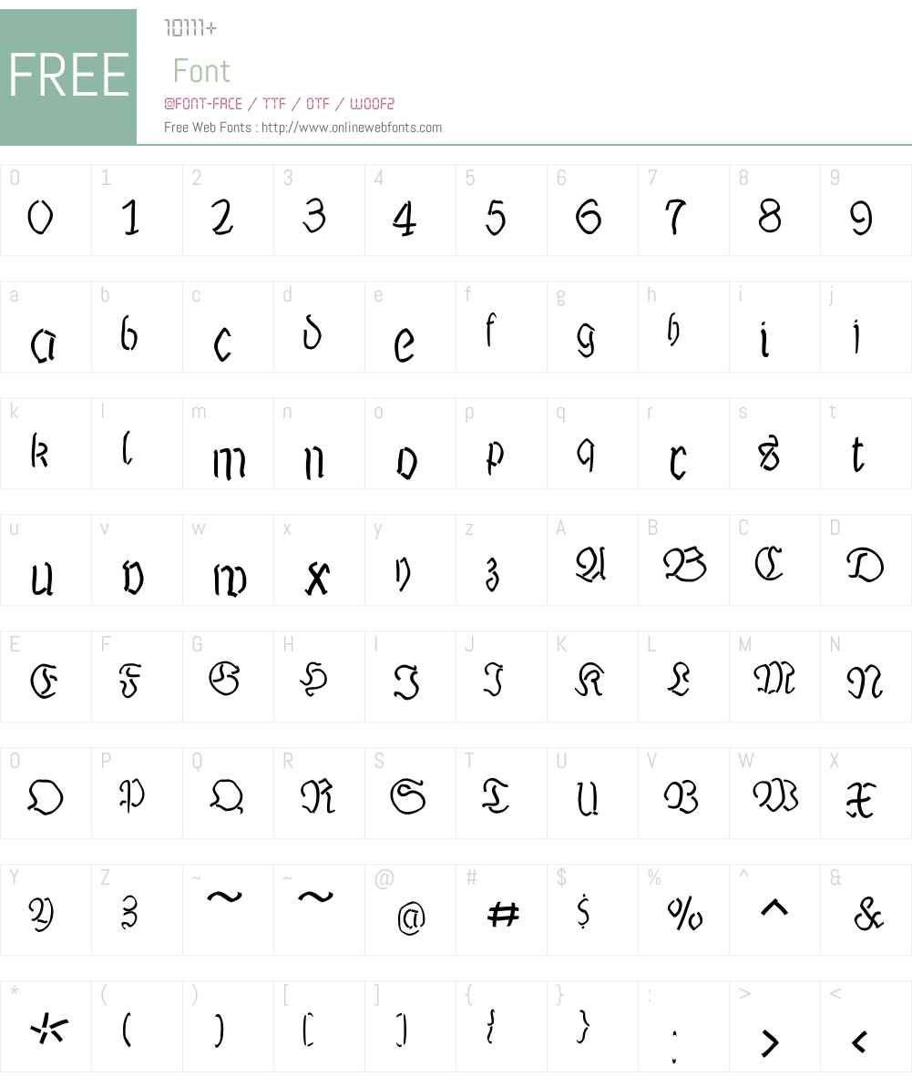 LutherMousedrawn Font Screenshots