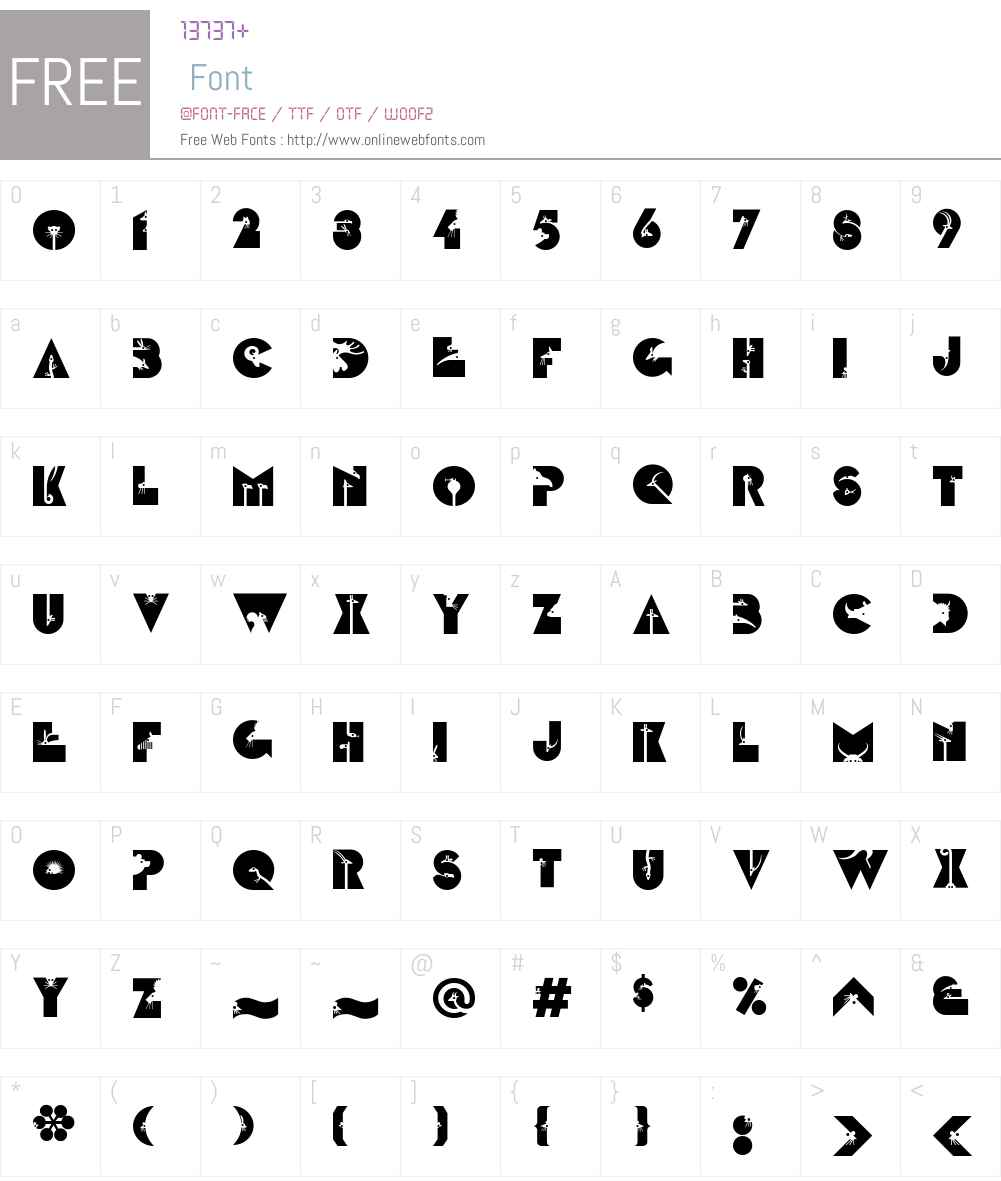 LTZootype Land Font Screenshots