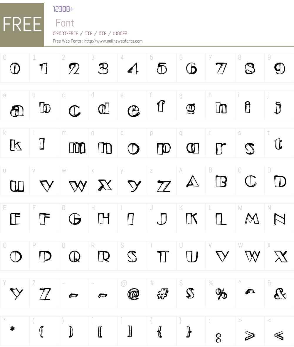 Etude Font Screenshots
