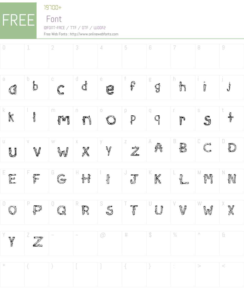 SketchLogs Font Screenshots