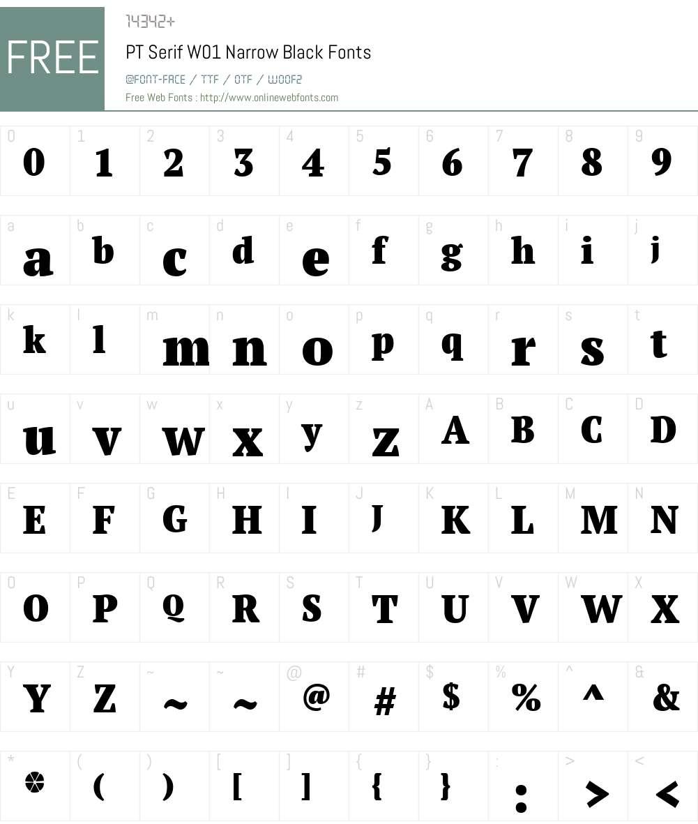 PTSerifW01-NarrowBlack Font Screenshots