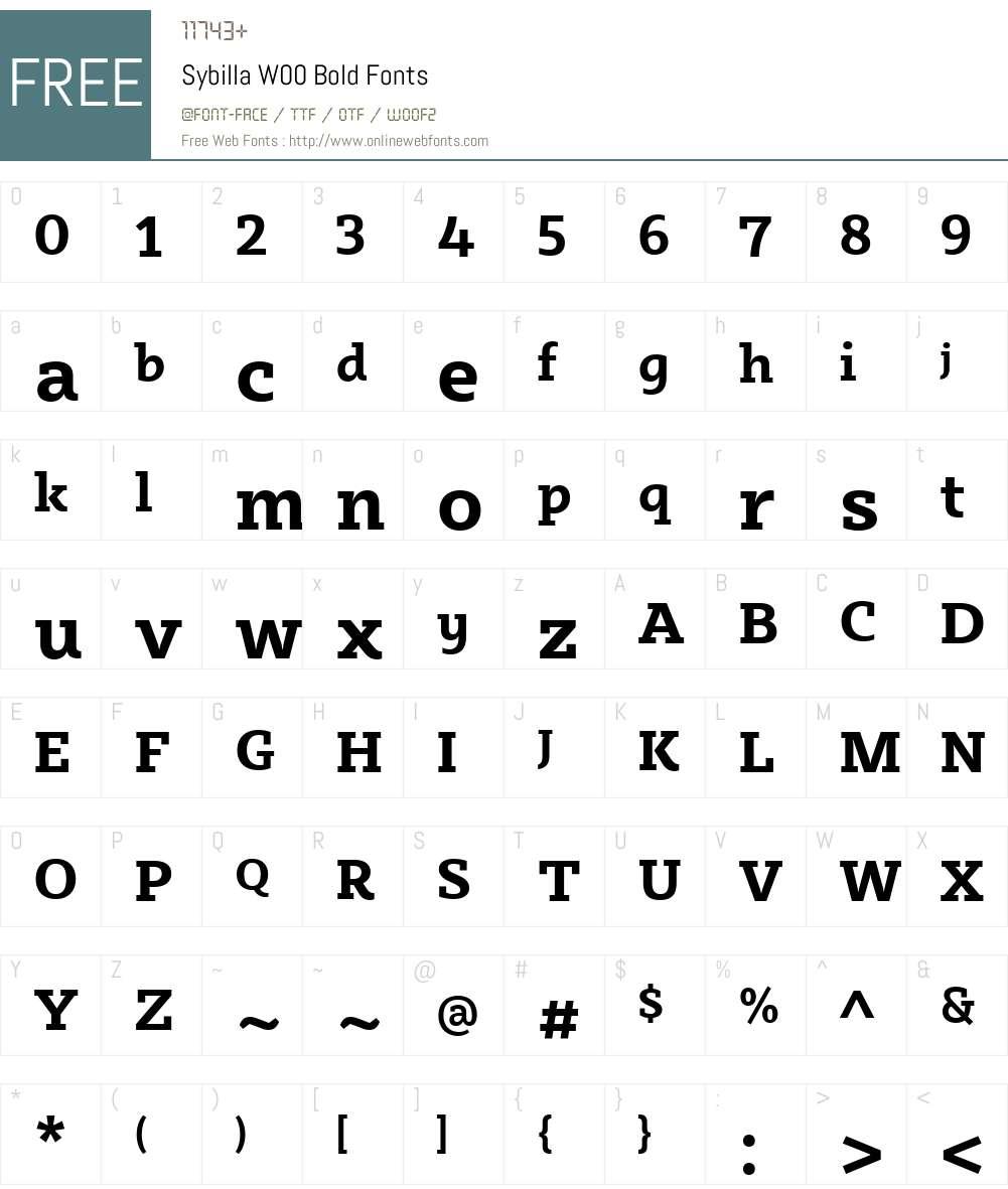 SybillaW00-Bold Font Screenshots