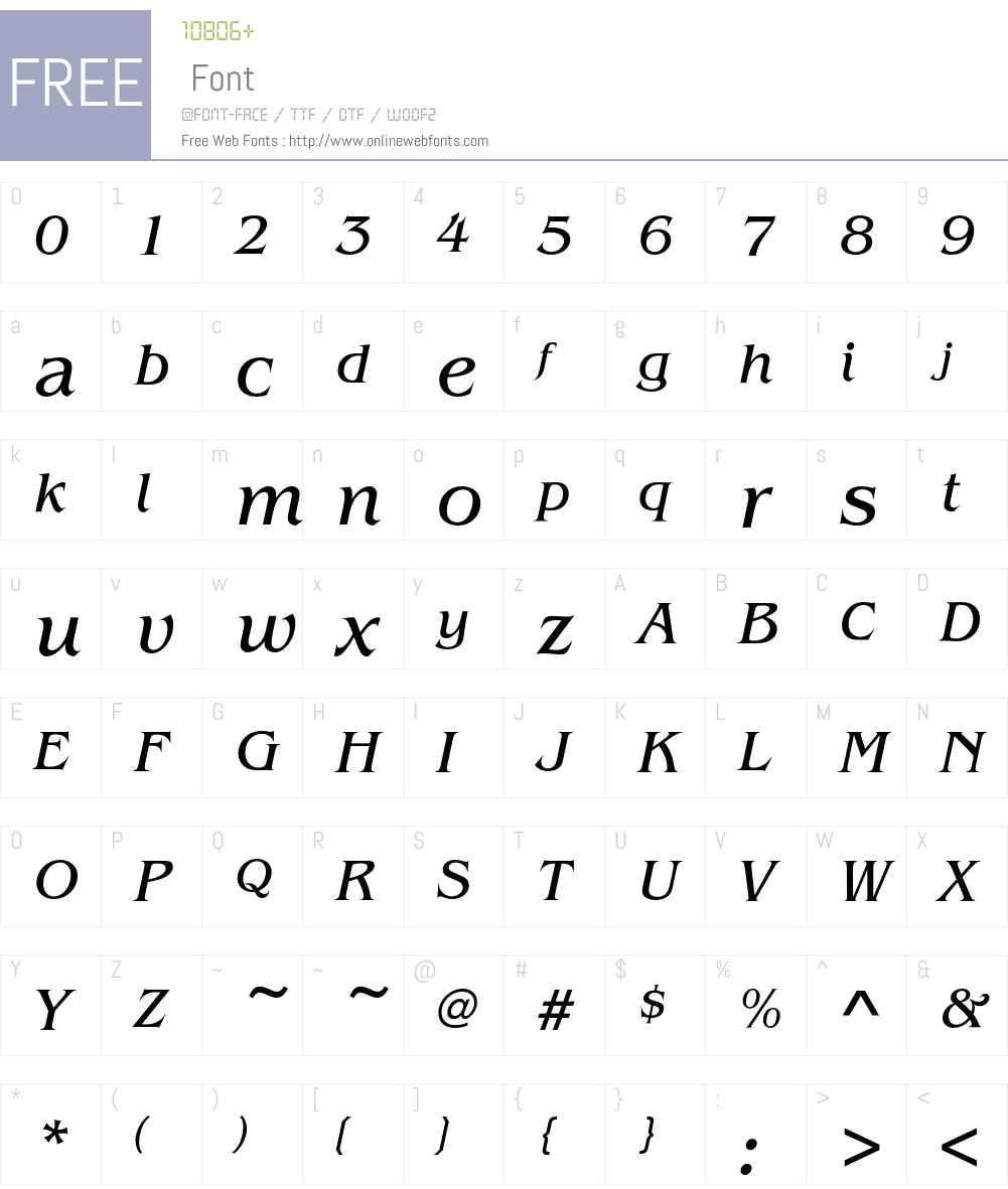 BenguiatEF-BookItalic Font Screenshots