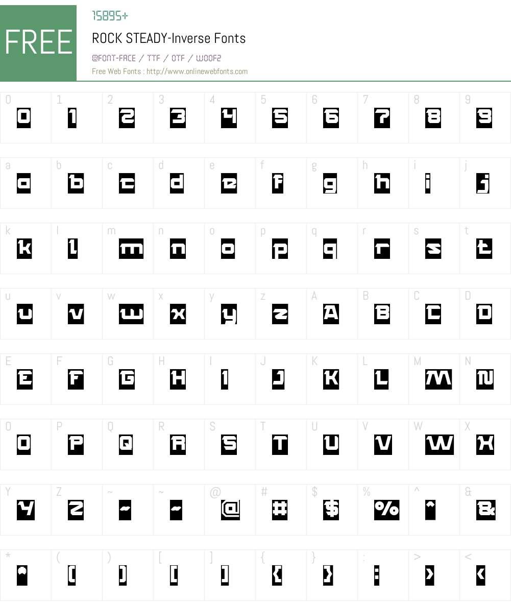ROCK STEADY-Inverse Font Screenshots